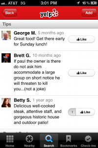 tripadvisor vs. foursquare